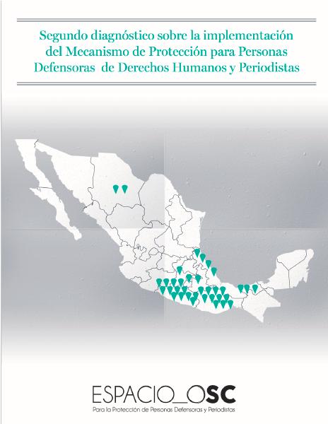 Segundo diagnóstico sobre la implementación del Mecanismo de Protección para Personas Defensoras de Derechos Humanos y Periodistas