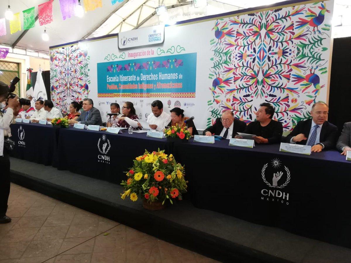 Inauguración de la Escuela Itinerante de Derechos Humanos de los Pueblos, Comunidades Indígenas y Afromexicanas | Participación de Miguel Concha