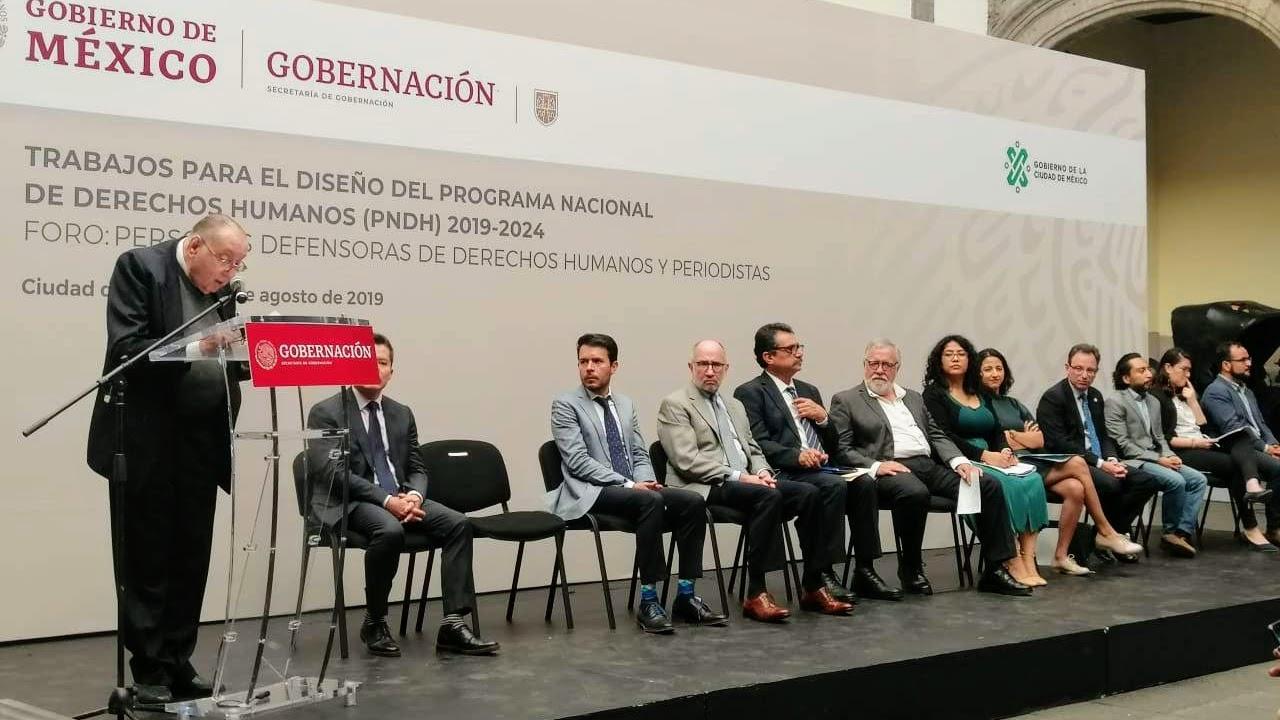 Personas defensoras y periodistas | Participación de Miguel Concha en foro temático del Programa Nacional de Derechos Humanos