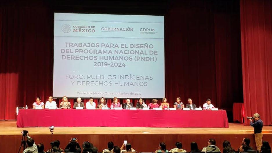 Pueblos indígenas y derechos humanos | Participación de Miguel Concha en foro temático del Programa Nacional de Derechos Humanos