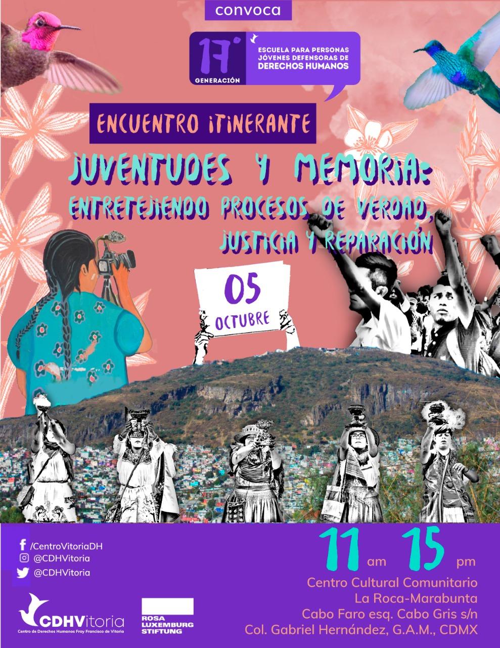 Encuentro Itinerante | Juventudes y Memoria: Entretejiendo Procesos de Verdad, Justicia y Reparación.