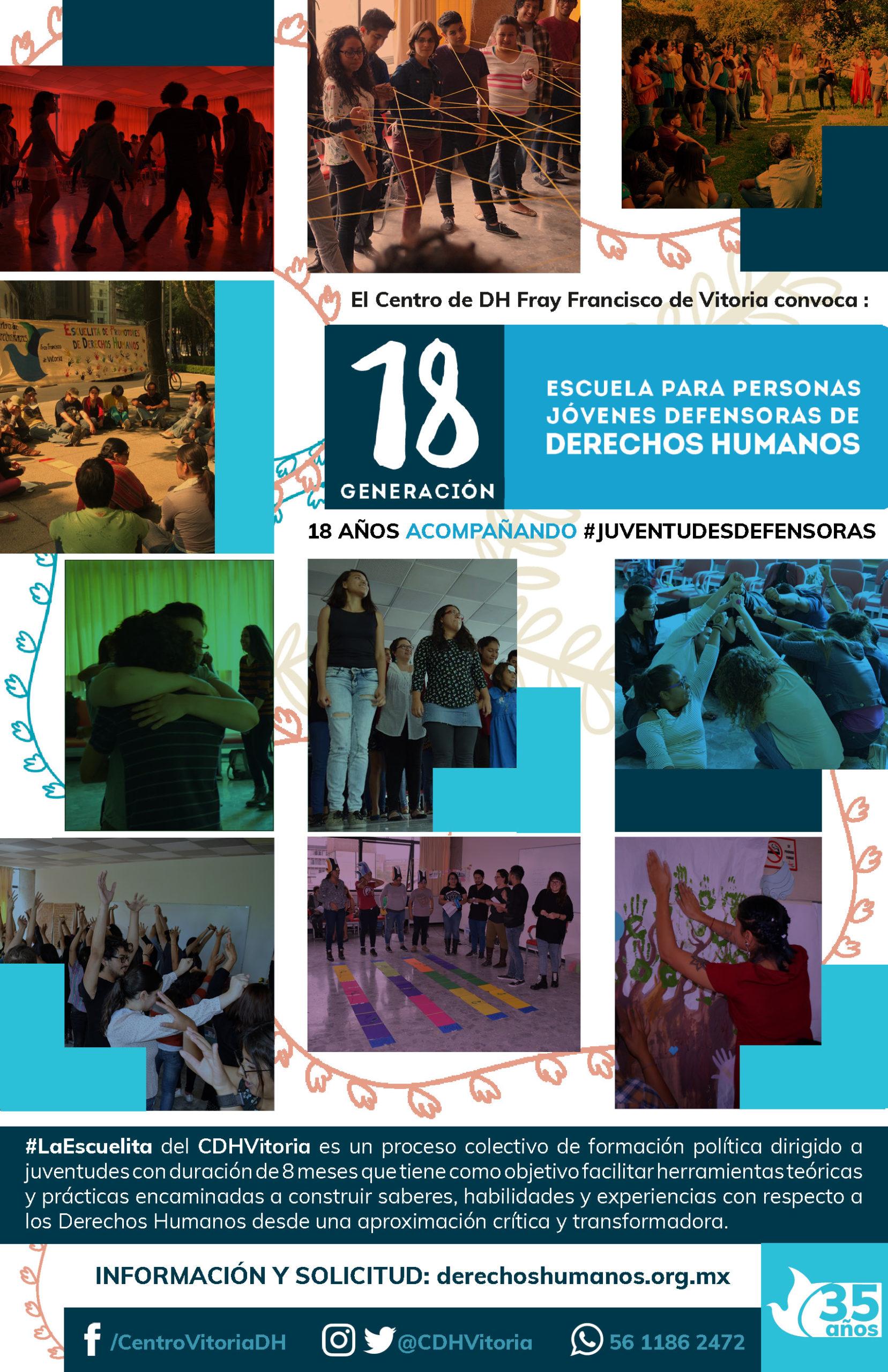 CONVOCATORIA : Escuela para Personas Jóvenes Defensoras de DH 2020
