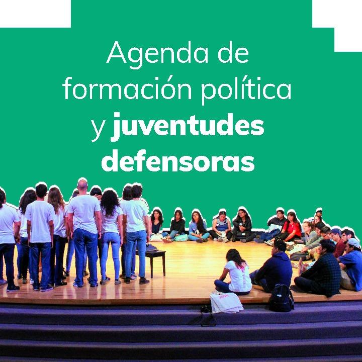 Junto a diversas organizaciones y movimientos sociales locales y regionales, realizamos acciones para exigir al estado que cumpla con  cu responsabilidad de garantizar los derechos humanos y el cuidado de la naturaleza por encima del beneficio económico de las empresas y los tratados de libre comercio.