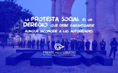 Fuerzas de seguridad de León, Guanajuato, reprimen protesta sobre violencia de género