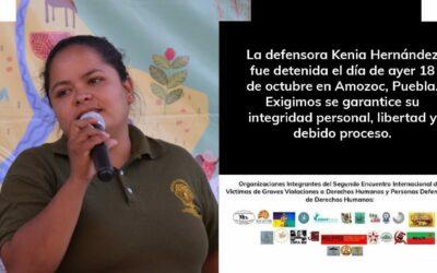 Pronunciamiento en contra de la criminalización de la defensora y activista Kenia Inés Hernández Montalván